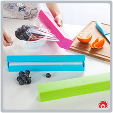 creative stainless steel plastic stretch blade cut plastic wrap cling film cutter slips over box edge