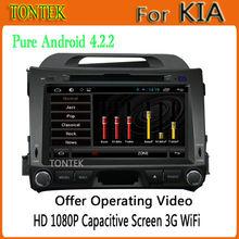 Popular Android 4.2.2 Car radio with GPS,Ipod,USB,TV KIA sportage 2010 2011 2012