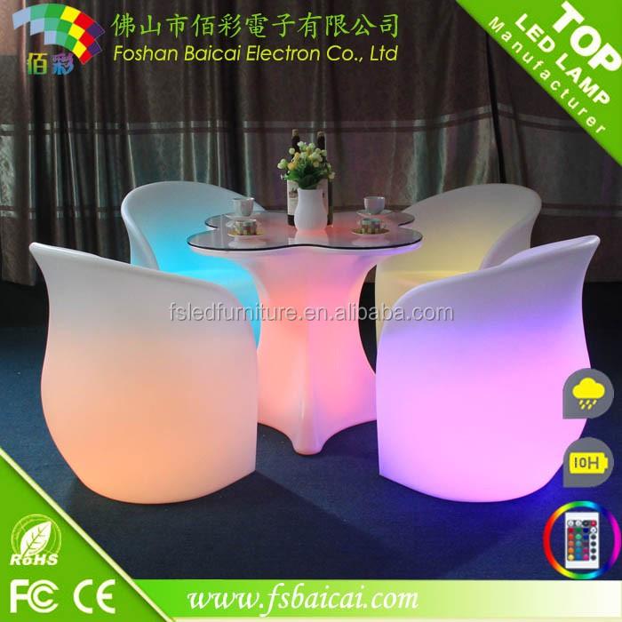 Décoration décoration de la maison rechargeable de mariage meubles sans fil led table lumineuse