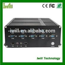 intel core i3/i5 ZPC-X8 barebone linux pc with fan and 2VGA