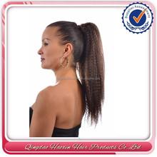 Yaki fake human hair drawstring ponytail