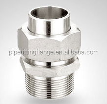 Bsp / NPT Forged Threaded Screwed Stainless Steel Stainless Union