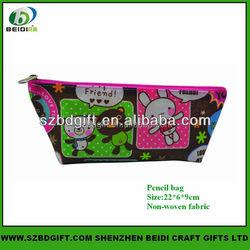 Custom non woven fabric pencil case for student