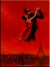 dancing couple wall decoration oil painting