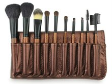 Cosmetics manufacturing companies brush factory 10pcs coffee makeup brush set
