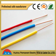 BV electric wire soft strand wire 300-500V,copper clad steel ground rod,house wiring cable