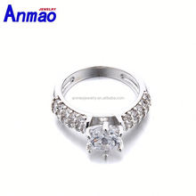 light up hair accessories cheapest fashion heart shape orange zircon ring coffee color ring