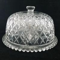 new 2016 shanxi mouth blown home party antique clear glass cake plate cover glassware