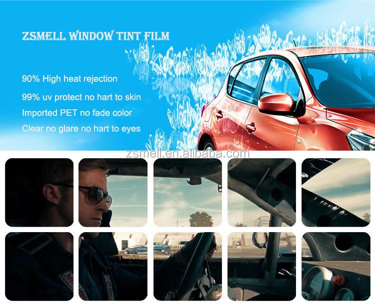 noir lectrochrome smart film pour fen tre de voiture teinte 99 uv rejet film vitres de. Black Bedroom Furniture Sets. Home Design Ideas