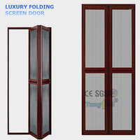 AS2047 Standard Folding Screen Door Aluminum Accordion Mosquito Netting Door