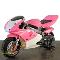 Pink Red 49cc Pocket bike Mini Motorcyle for Kids with High Quality