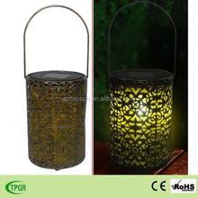 Best selling items home decor glisten metal solar lantern