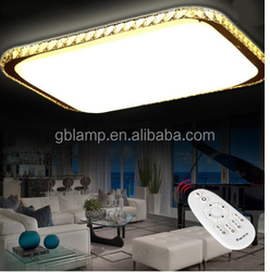 Silver ceiling light with mp3, decorative crystal ceiling light for home