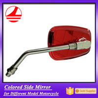 factory export quality red chrome motorcycle rear view mirror
