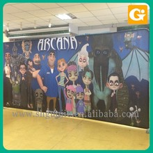 Fabric Polyester Pop Counter Corrugated Display Aluminum Profile