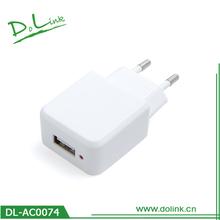 EU/US/UK/AUS/JAPAN/KC Plug Type Available Flat USB Wall Charger
