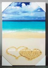 Hot sale Love at the beach 24X36 Inch waterproof outdoor canvas art for wall decor
