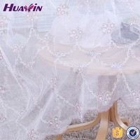 China supplier high quality polyester fabric for curtains New Design Curtain,cording embroidery flower design