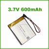 600mah battery 384045 3.7V for bluetooth products