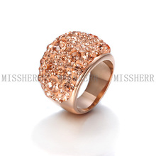 Venta caliente mirco anillo de moda llena de diamantes de imitación NSR044STCBZD