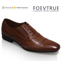 Point toe shoes Dress men shoes leather 2015 cap toe balmoral shoes men