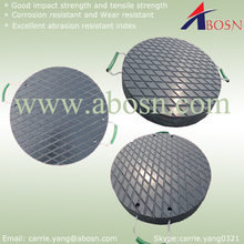 durable hdpe crane outrigger pads/plastic round crane foot pad