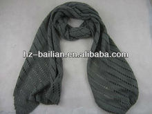 Soft touch long pattern knit scarf
