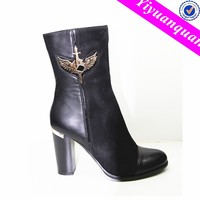 Sex PU Boots Sexi Thick High Heel Black Lady Boots