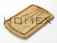 Bamboo Reversible Carving Chopping Board/Cutting Blocks/Homex_FCS/BSCI