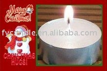 Paraffin wax tealight candle with Alum can