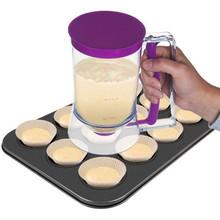 De plástico 3.6l masa para pasteles de dispensador de transparente con asa