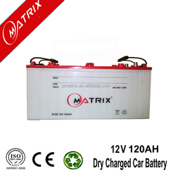 high capacity used car and truck battery for sale 12V 120AH JIS: Jananese Standard