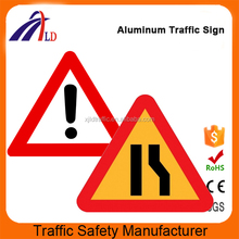 Road safety triangle danger warning signs