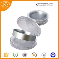 Empty compact powder container, round plastic compact powder container