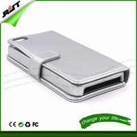2015 New design cell phone case Competitive price leather wallet mobile phone case for iphone4/4S