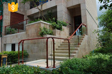 Steel or Aluminum or Stainless Steel assembled glass railing