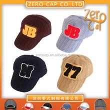 custom winter hats cotton embroidered baseball cap
