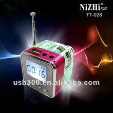 6 Colors Digital Portable Mini Speaker Music MP3/4 Player /TF USB Disk Speaker FM Radio LCD Display