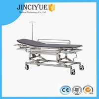 Stainless Steel Stretcher for Emergency Treatment with Adjustable Height