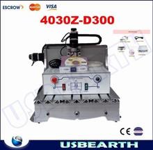 Free shipping! cnc cutting machine 4030Z-D300 BALL screw 300W DC power spindle motor cnc carving machine cnc router machine