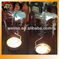 Automatic carousel candle holder for gifts for newly married couple