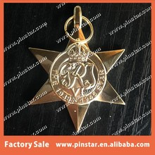 High Quality Stamping The 1939 - 1945 Australian Star 3D Gold War Medal with Custom Design