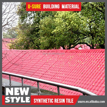 Popular villa rooftop design synthetic resin tile roofing