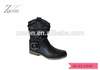 2015 autumn hottest factory direct sales black half-knee motorcycle riding boots women gothic boots punk boots