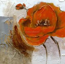 Red Bloom Flowers Oil Painting