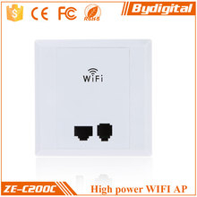 Bydigital 2.4GHz Multiple working modes 300Mbps mini wall wireless AP with POE WAN/LAN ports