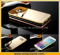 Aluminium Metal Cases for Samsung s6 With Mirror back cover Shockproof