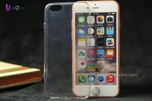 hot selling promotion clear transparent mobile phone silicon case for iphone 6 plus