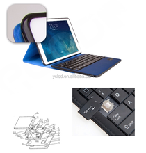 New design For IPad 2 Aluminium Keyboard Cover Case Stand Integrated Bluetooth