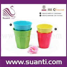 ราคาโรงงานบนโต๊ะอาหารเมลามีนถ้วยกาแฟที่มีสีสันนำมาใช้ใหม่